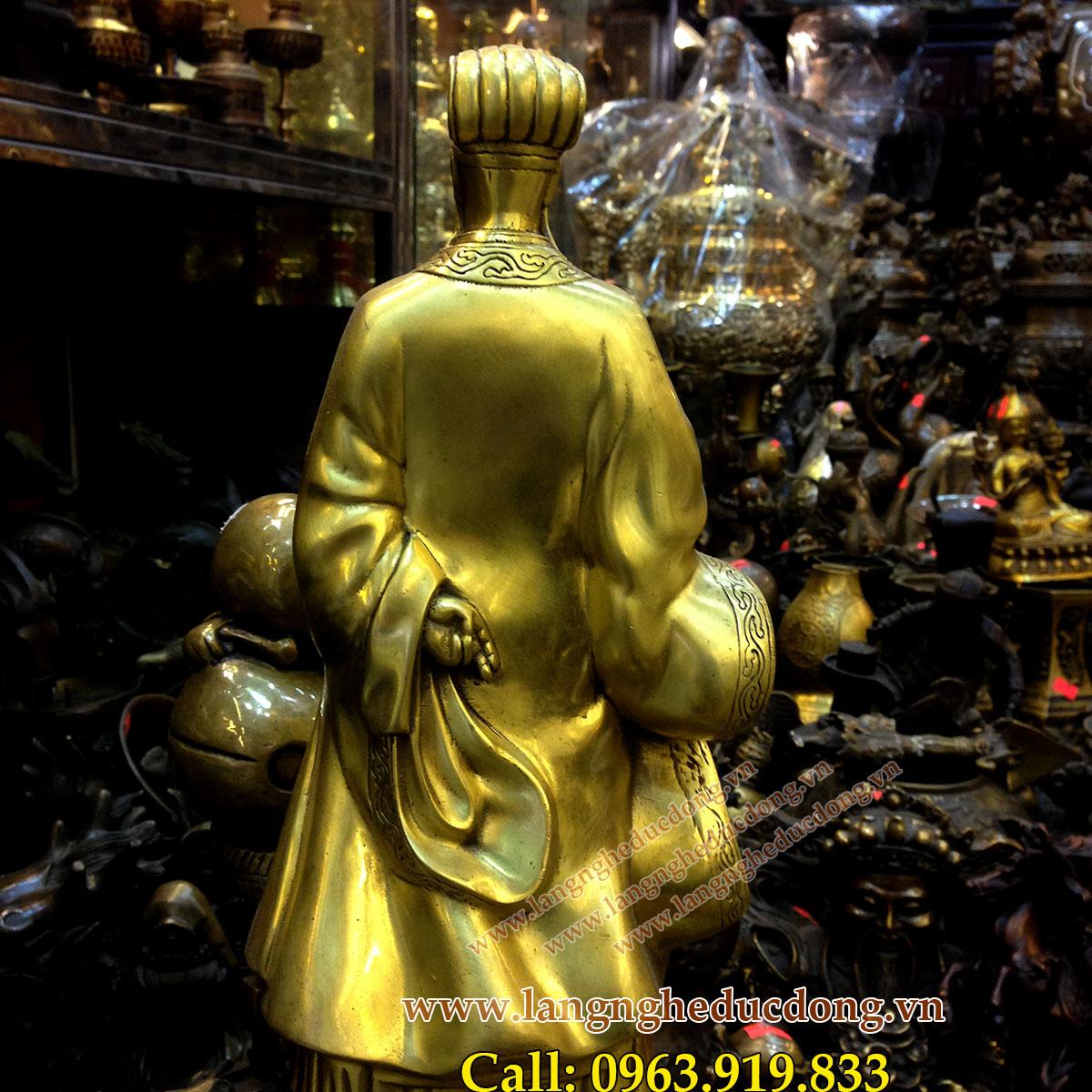 langngheducdong.vn - ượng Khổng Minh cao 25cm, tượng đồng Gia Cát Lượng phong thủy