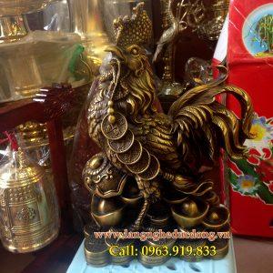 langngheducdong.vn - gà đứng trên bao tiền, gà đồng cao 25cm