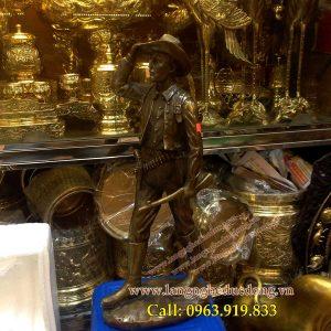 langngheducdong.vn - tượng đồng, tượng trng trí bằng đồng cao 42cm