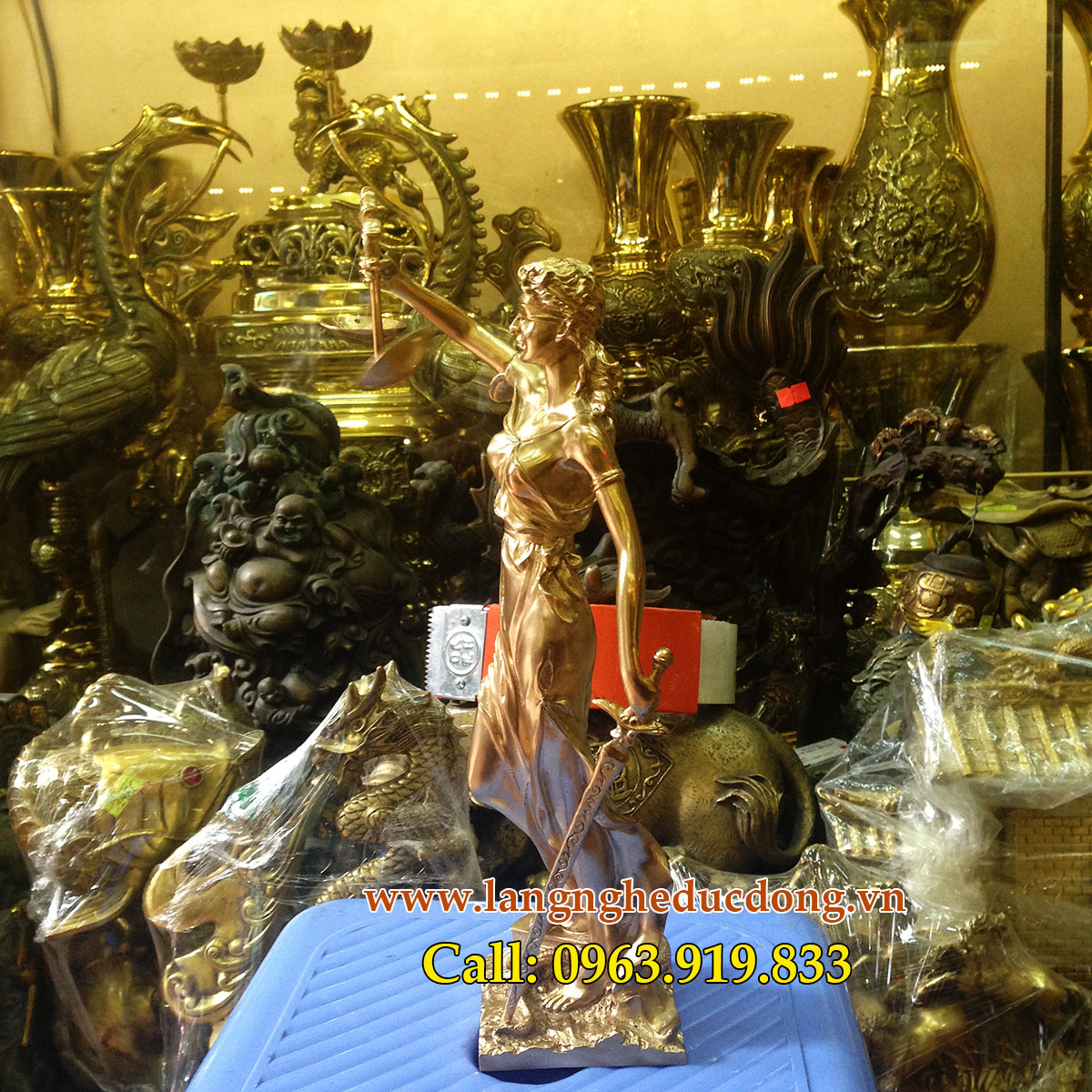 langngheducdong.vn - tượng đồng nữ thần công lý, bán tượng đồng, giá bán tượng nữ thần công lý