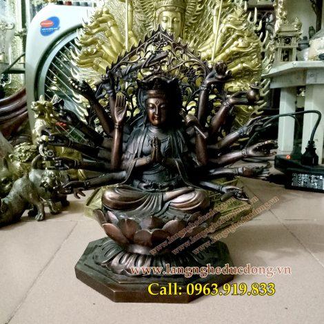 langngheducdong.vn - Tượng phật chuẩn đề, mẫu chuẩn đề bồ tát cao 25cm