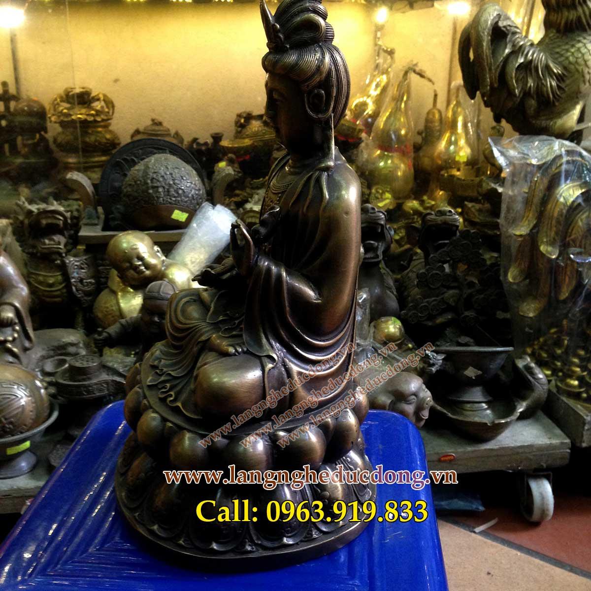 langngheducdong.vn - ượng đồng đại thế chí bồ tát, tượng thế chí bồ tát cao 25cm, mẫu tượng đại thế chí ngồi