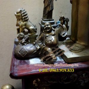 langngheducdong.vn - Tượng Phật Di Lạc gánh vàng 18cm, mẫu tượng dilac gánh vàng