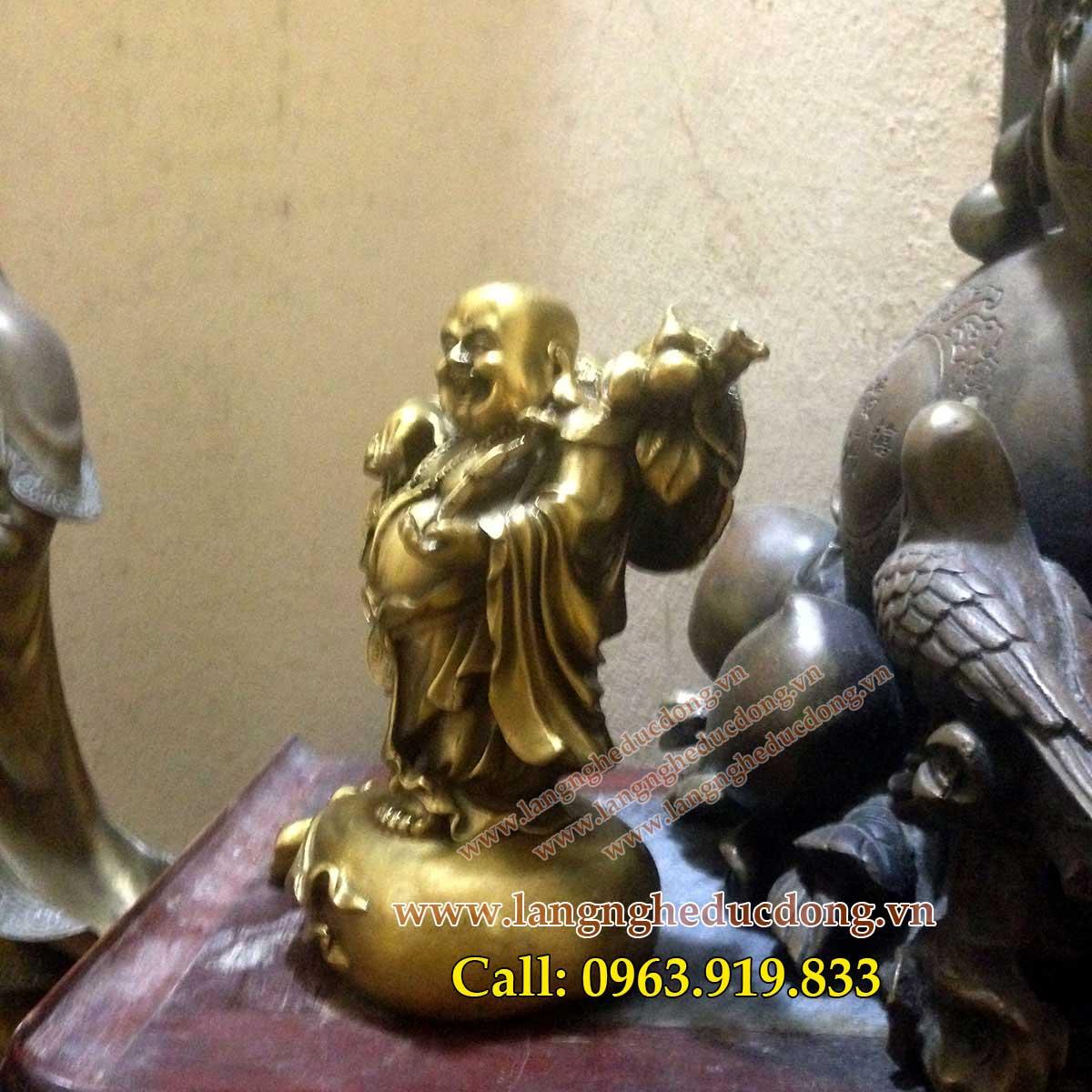 langngheducdong.vn - Tượng Phật Di Lạc Kéo Tiền, phật di lạc dài 20cm