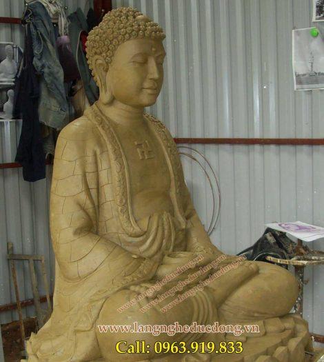 langngheducdong.vn - Tượng Phật Đúc Đồng, cao 89cm