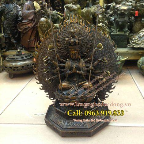 langngheducdong.vn - Tượng Phật bà nghìn mắt nghìn tay, mẫu tượng cao 25cm