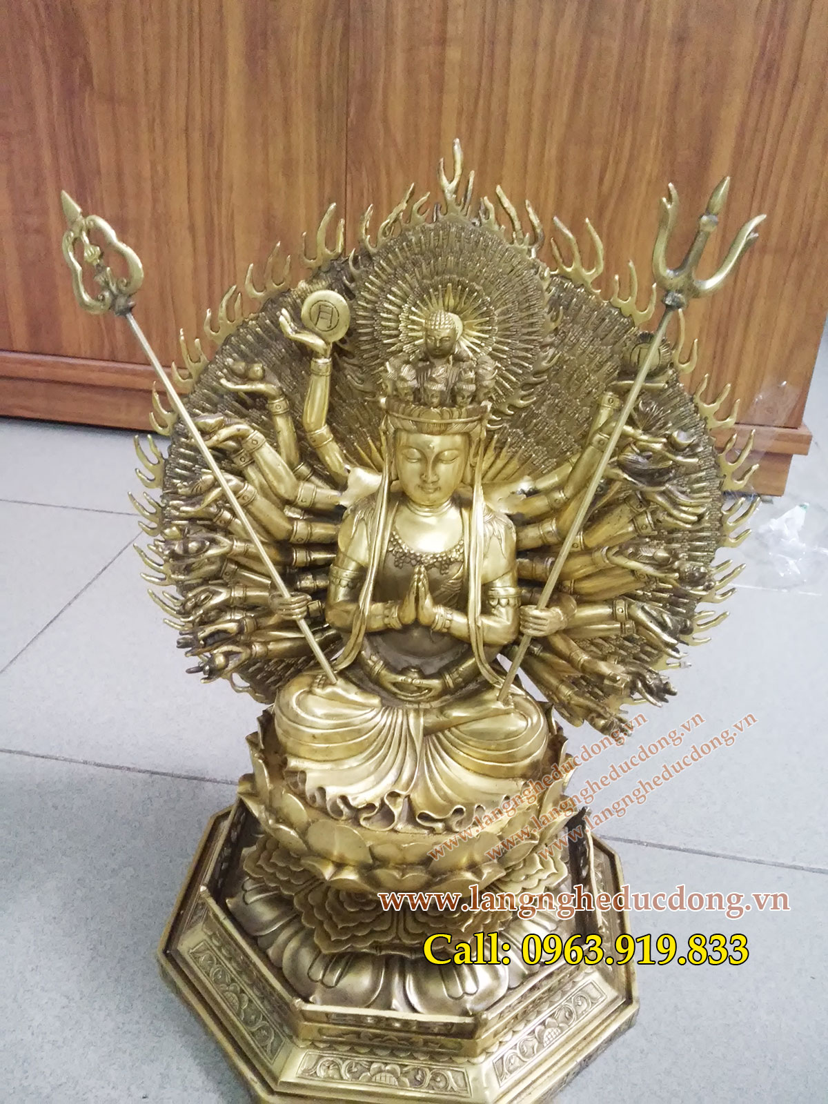 langngheducdong.vn - Phật Bà nghìn mắt nghìn tay, thiên thủ thiên nhãn cao 41cm