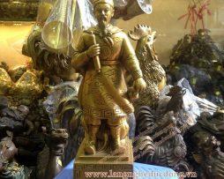 langngheducdong.vn - Tượng Trần Hưng Đạo, Đức Thánh Trần bằng đồng vàng 32cm