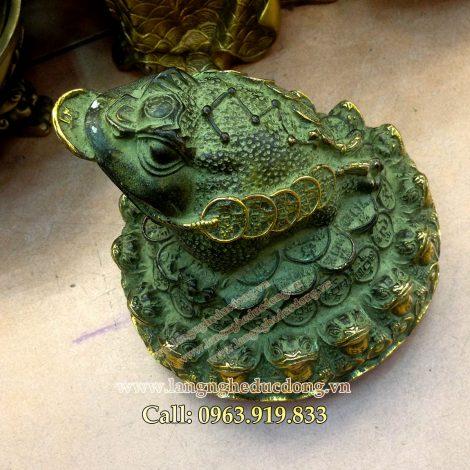 langngheducdong.vn - Cóc ba chân, cóc đồng xanh giả cổ, cóc giả cổ cao 20cm