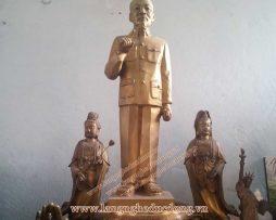 langngheducdong.vn - Tượng Bác Hồ giả cổ toàn thân cao 43cm