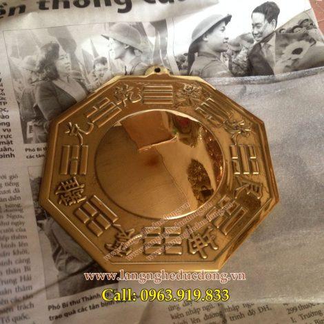 langngheducdong.vn - Gương bát quái bằng đồng phong thủy chấn trạch 12cm