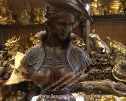 langngheducdong.vn - tượng trang trí bằng đồng, tượng bán thân cô gái