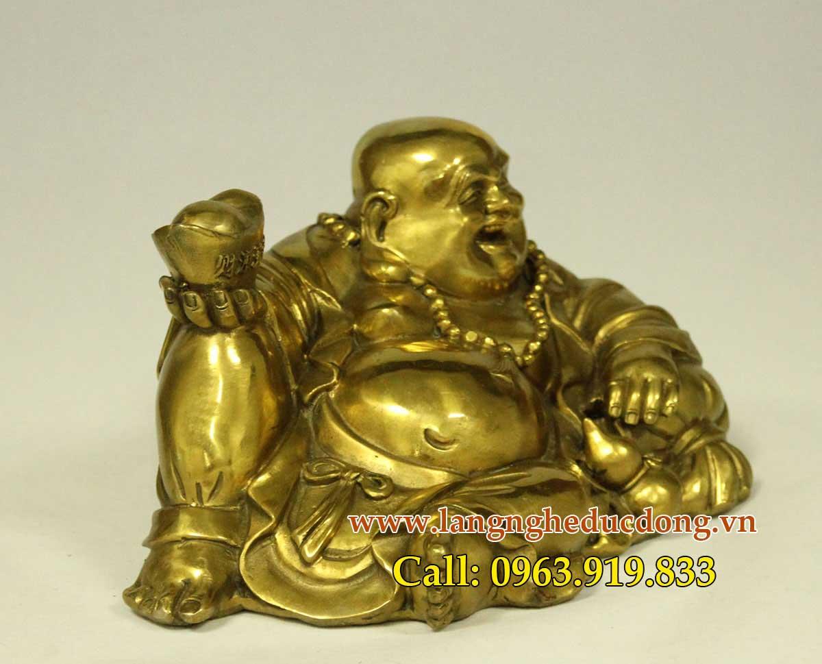 langngheducdong.vn - Tượng phật di lặc bằng đồng vàng, tượng dilac trang trí xe oto