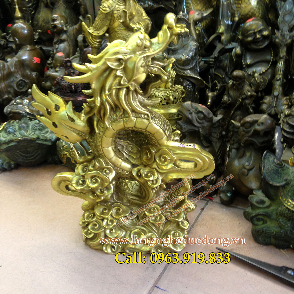 langngheducdong.vn - Tượng Rồng Phong thủy cao 35cm, tượng rồng phong thủy