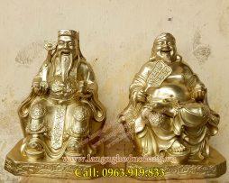 langngheducdong.vn - Tượng thần tài ông địa thổ địa 25cm, tượng đồng thàn tài, tượng đồng ông địa