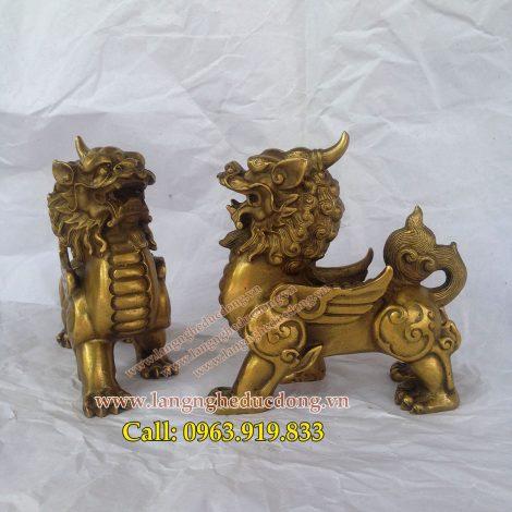 langngheducdong.vn - Tỳ hưu đồng, Cao 10cm, Tỳ hưu phong thủy bằng đồng nguyên chất