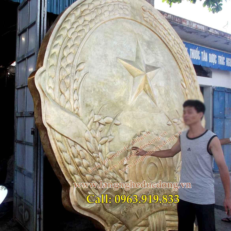 langngheducdong.vn - Quốc huy đường kính 3m, quốc huy bằng đồng 1.5ly