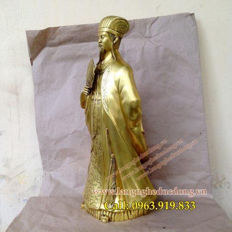 langngheducdong.vn - Tượng Khổng Minh cao 50cm, tượng đồng Gia Cát Lượng