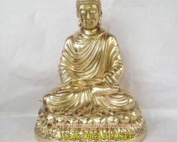 langngheducdong.vn - phật thích ca cao 30cm đồng vàng đúc máy, tượng đồng