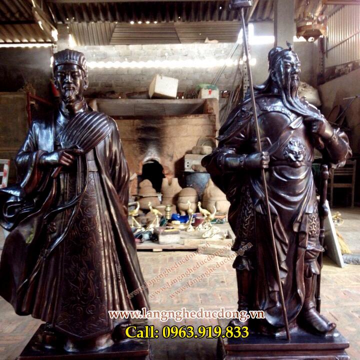 langngheducdong.vn - Tượng Quan Vân Trường, Tượng đồng Khổng Minh