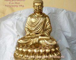 langngheducdong.vn - tượng phật thờ cúng bằng đồng, mẫu tượng thích ca cao 50cm