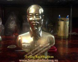 langngheducdong.vn - Tượng Bác Hồ bằng đồng, tượng chân dung bán thân, tượng cao 30cm