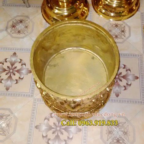 langngheducdong.vn - bát hương cúng tiến đình chùa, mẫu bát hương song long chầu nguyệt đường kính 35cm