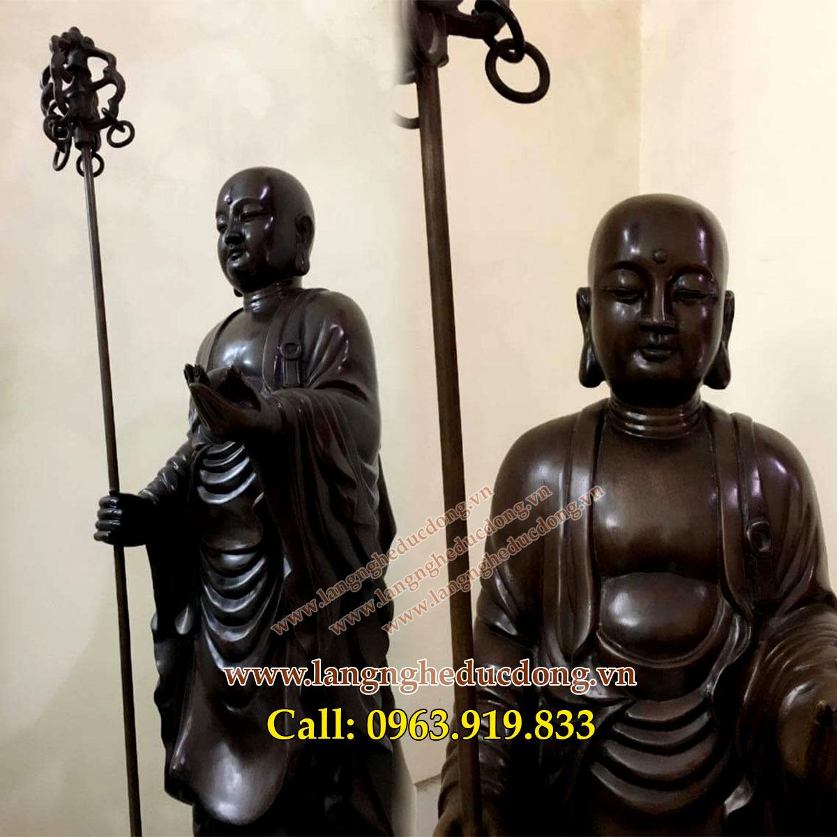 langngheducdong.vn - tượng đồng địa tạng vương bồ tát, đúc tượng đồng, đúc tượng phật, nhận làm hàng đặt