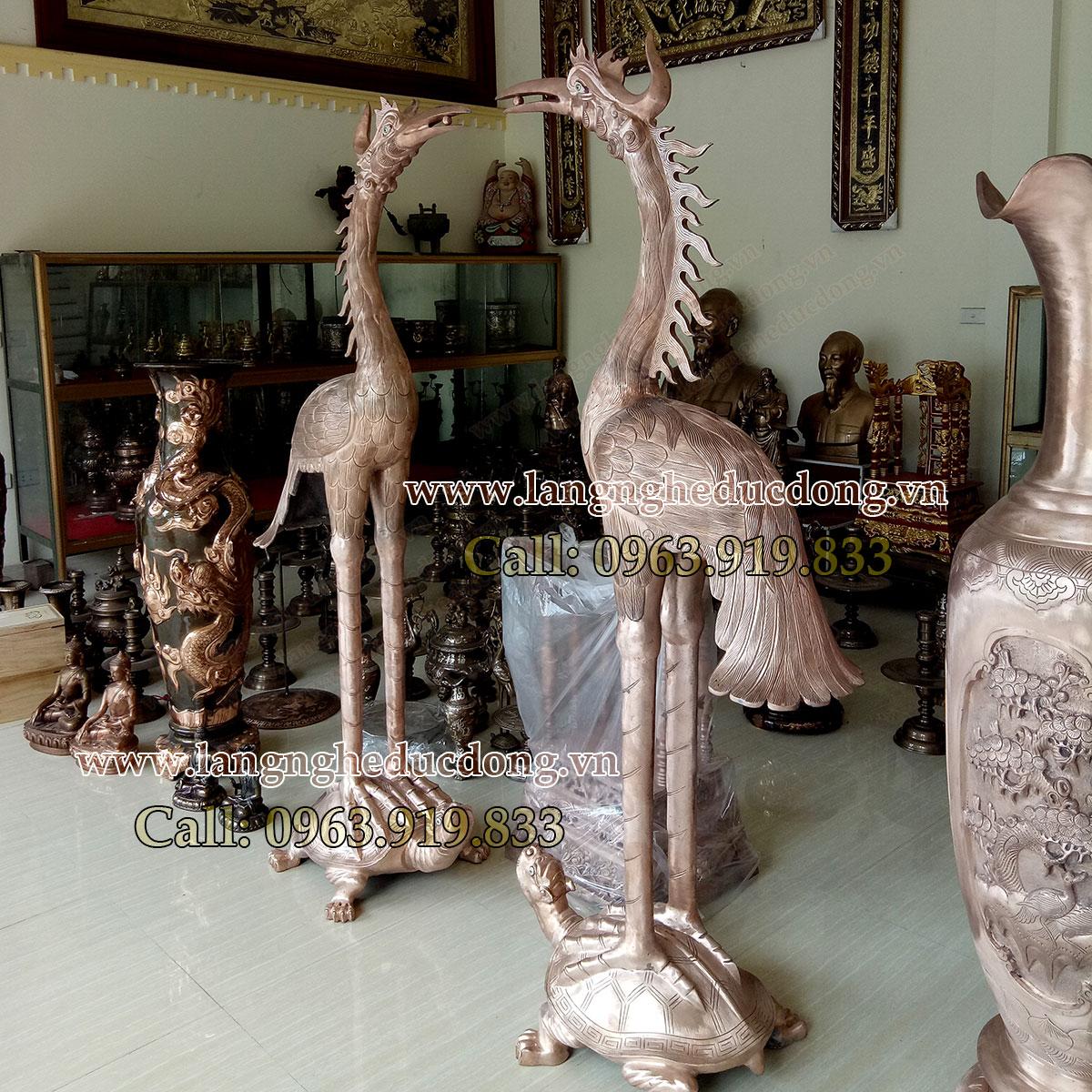 langngheducdong.vn - hạc cúng tiến đình chùa, hạc ngậm ngọc, hạc đồng đỏ đúc thủ công mỹ nghệ