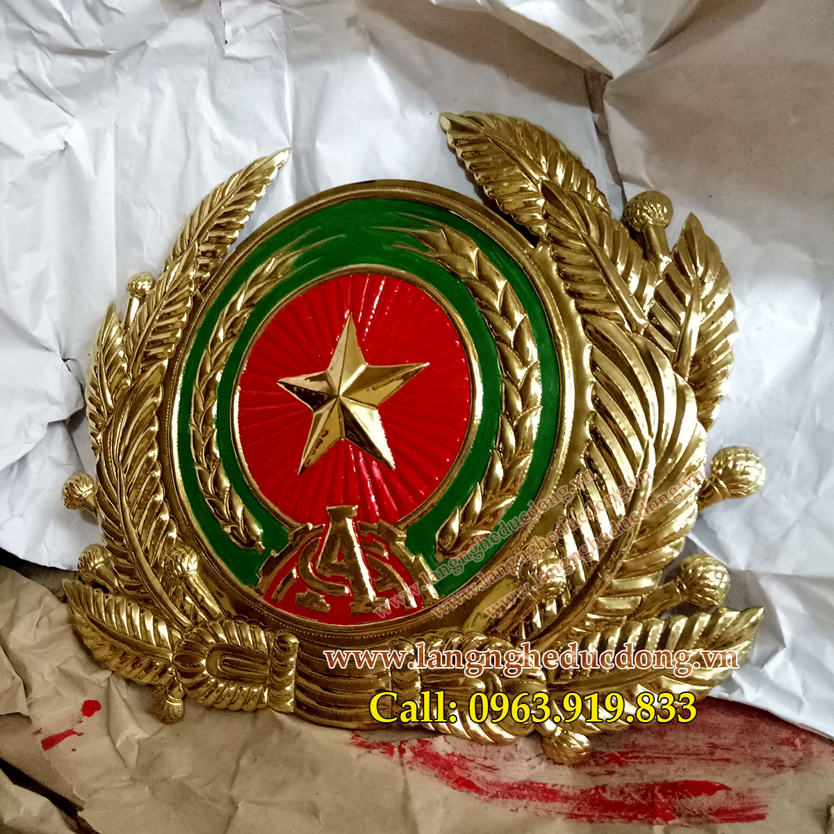 langngheducdong.vn - huy hiệu, quốc huy, logo gò đồng thủ công mỹ nghệ, nhận làm hàng đặt