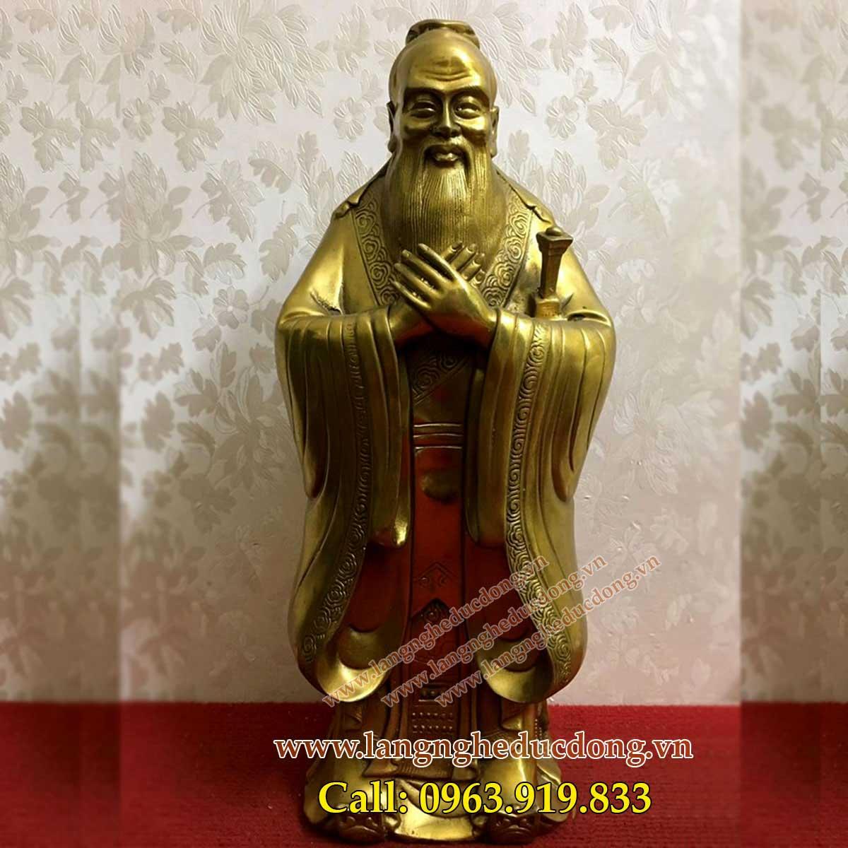 langngheducdong.vn - tượng khổng tử, tượng đồng, tượng danh nhân bằng đồng, đúc tượng đồng