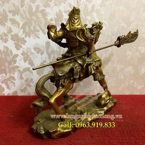langngheducdong.com - tượng quan công, quân vân trường bằng đồng, tượng đồng phong thủy