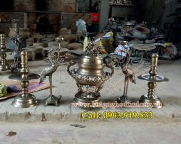 langngheducdong.vn - đúc đỉnh đồng, lư hương, bát hương, lọ hoa, mâm bồng, đồ thờ cúng bằng đồng đỏ, đồng vàng