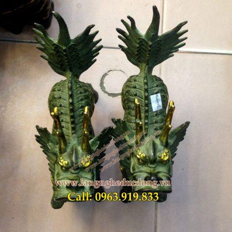 langngheducdong.vn - kỳ lân bằng đồng, kỳ lân gải cổ, tượng kỳ lân