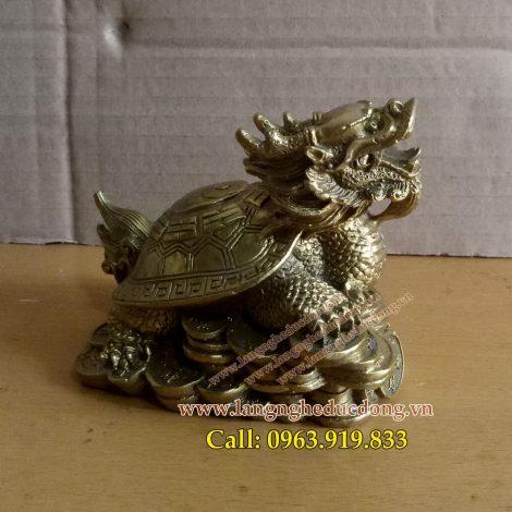 langngheducdong.vn - long quy bằng đồng, vật phẩm phong thủy bằng đồng, tượng rùa đồng