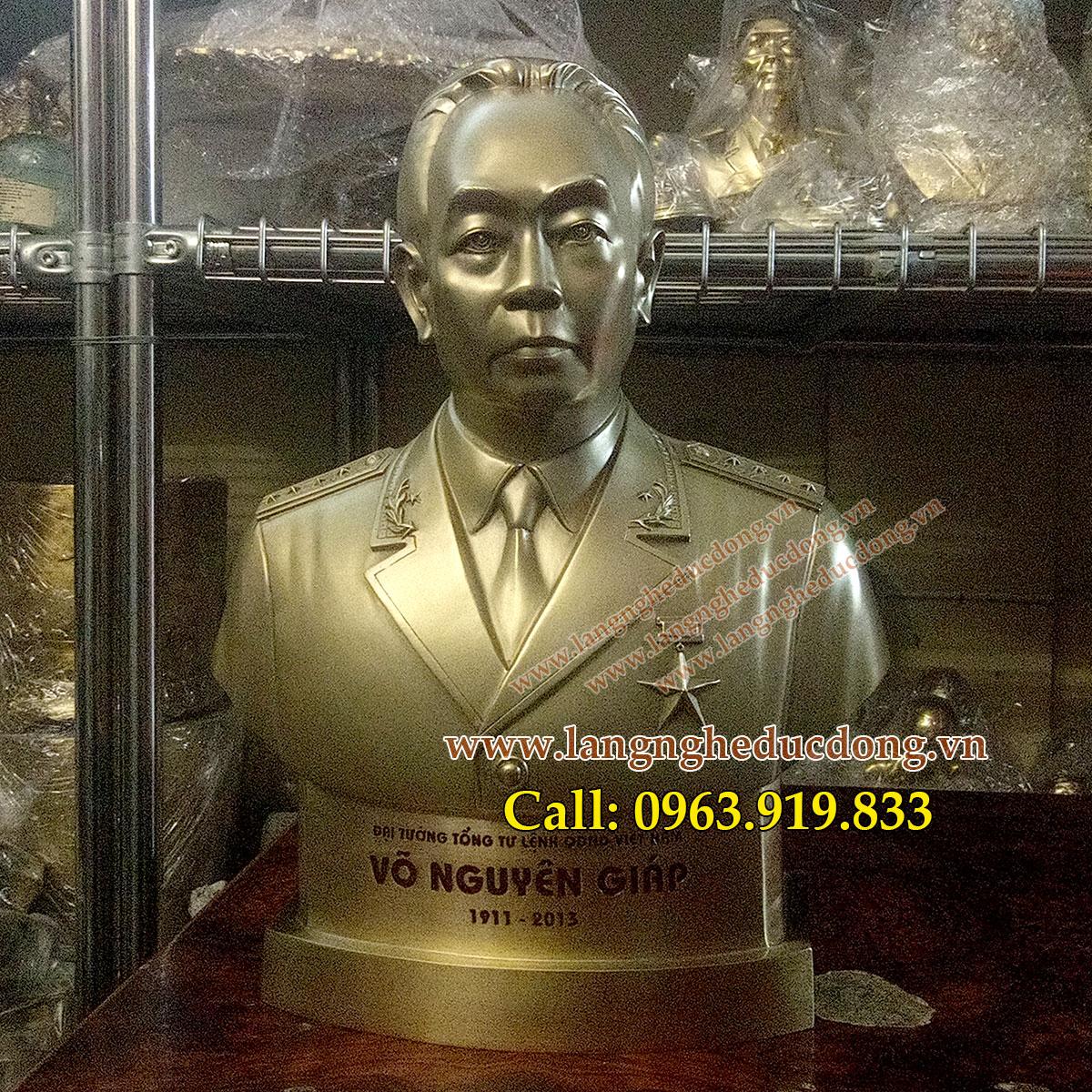 langngheducdong.vn - tượng đồng đại tướng võ nguyên giáp, tượng bán thân đại tướng võ nguyên giáp