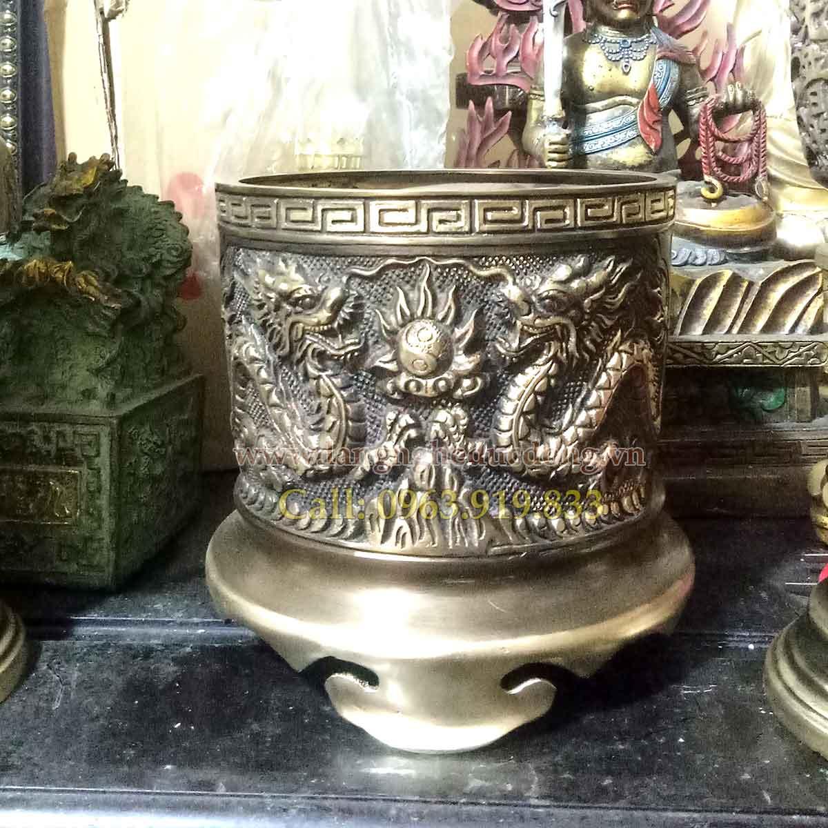 langngheducdong.vn - bát hương đồng, bán bát hương đồng, bát hương đồng mẫu song long chầu nguyệt