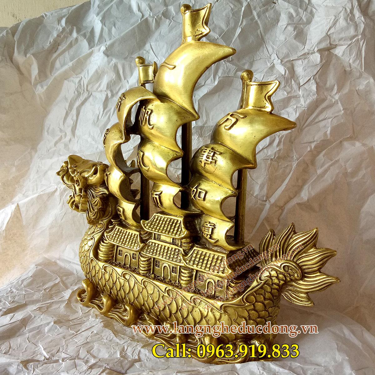 langngheducdong.vn - vật phẩm phong thủy, thuyền đồng, thuyền buồm, thuyền rồng