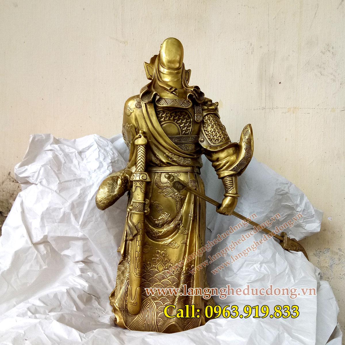Tượng quan công 50cm, tượng quan công bằng đồng, giá bán tượng quan công, bán tượng quan công