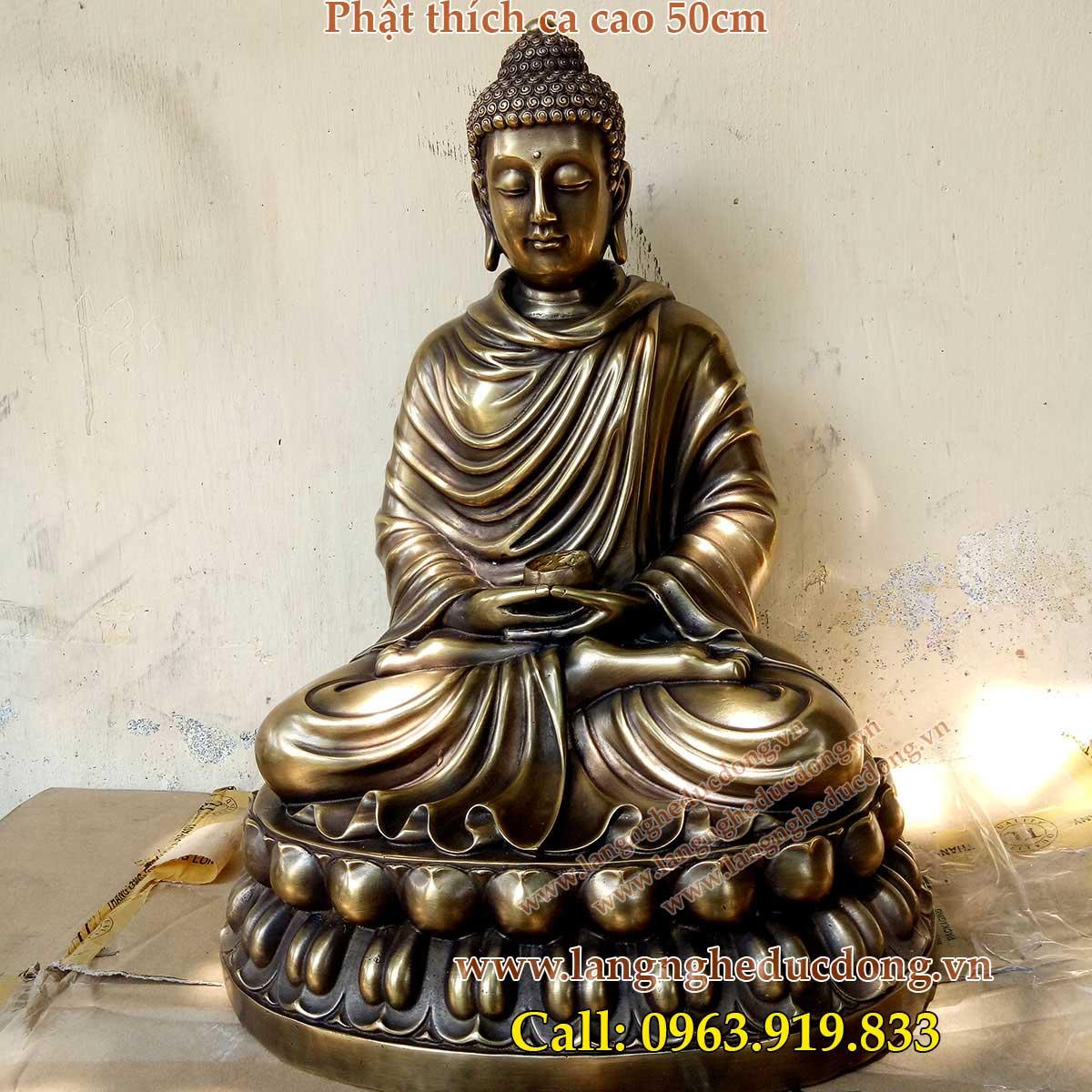 langngheducdong.vn - mẫu tượng phật thích ca cao 50cm, tượng thích ca bằng đồng