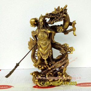 tượng quan công, tượng phong thủy, tượng trấn trạch, vật phẩm phong thủy - langngheducdong.vn
