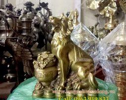 langngheducdong.vn - chó phong thủy, chó bằng đồng, tượng chó đồng, tượng đồng phong thủy
