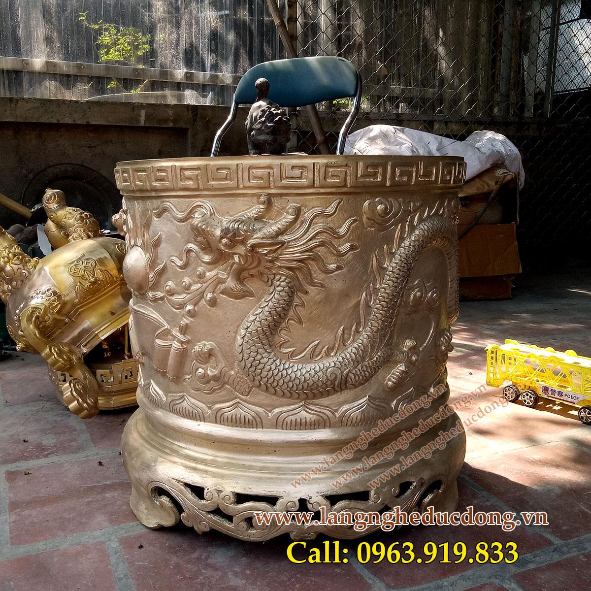 langngheducdong.vn - bát hương thờ cúng đình chùa, bát hương đồng cúng tiến, bát hương song long chầu nguyệt