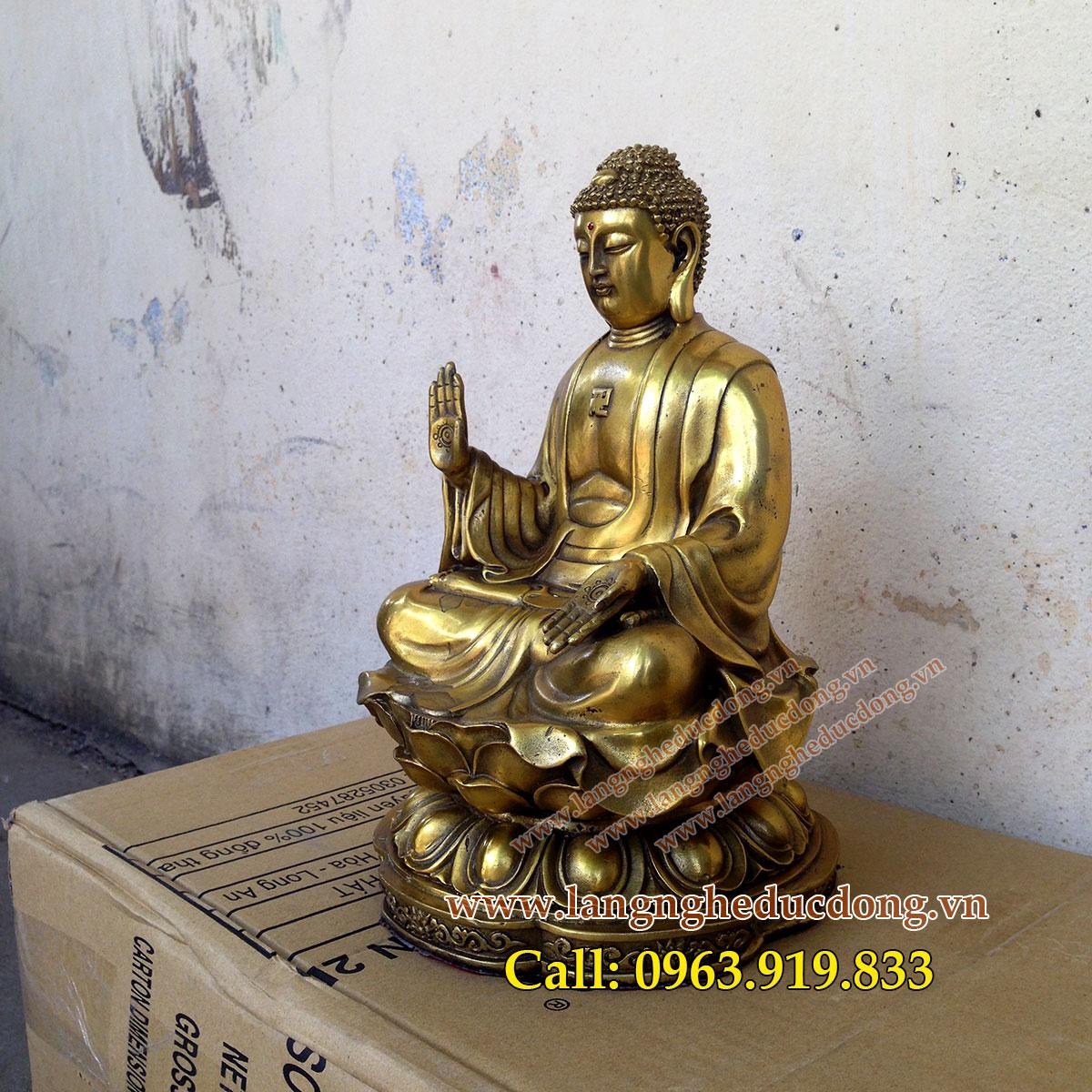 langngheducdong.vn - tượng thích ca bằng đồng vàng, mẫu tượng thích ca bằng đồng cỡ nhỏ