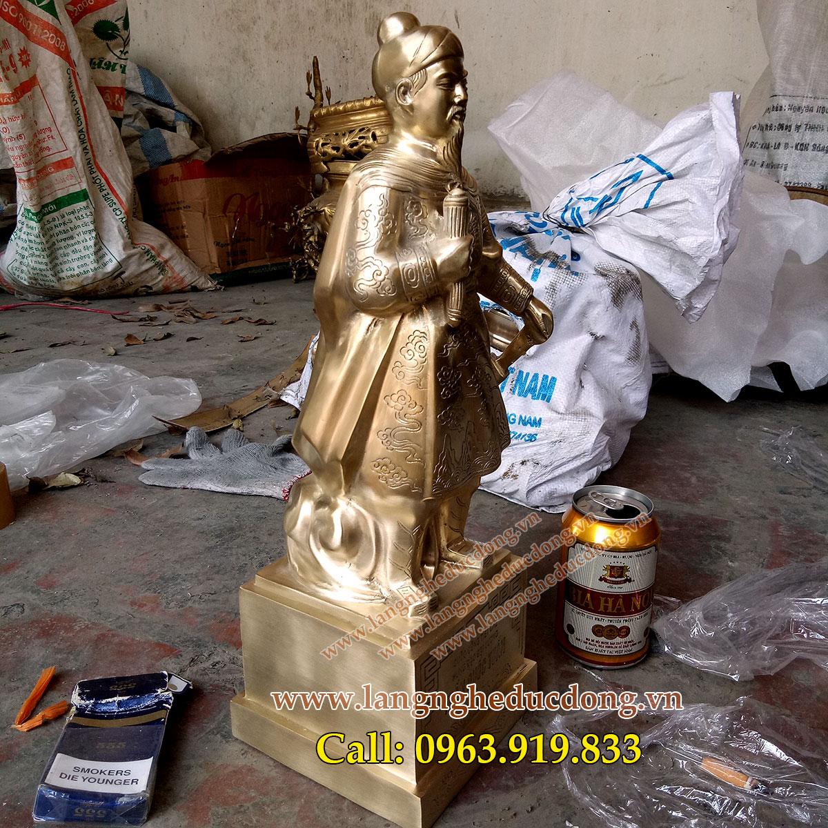 langngheducdong.vn - tượng trần hưng đạo, đúc tượng trần hưng đạo bằng đồng, quà tặng trần hưng đạo