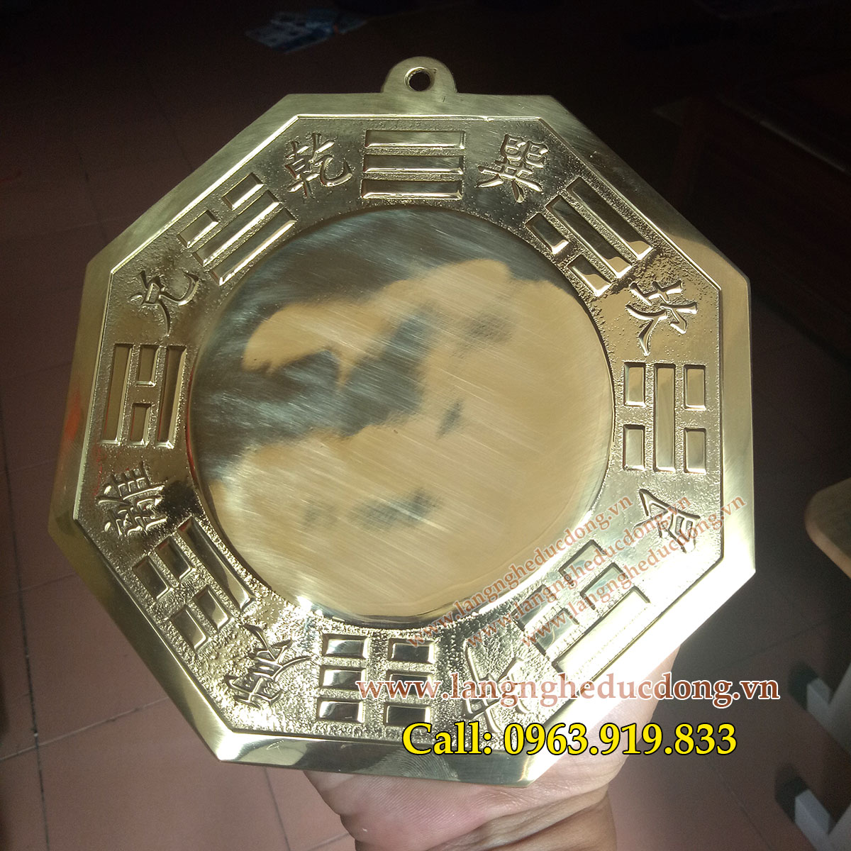 langngheducdong.vn - gương cầu, gương bát quoái, gương cầu bằng đồng, gương cầu phong thủy