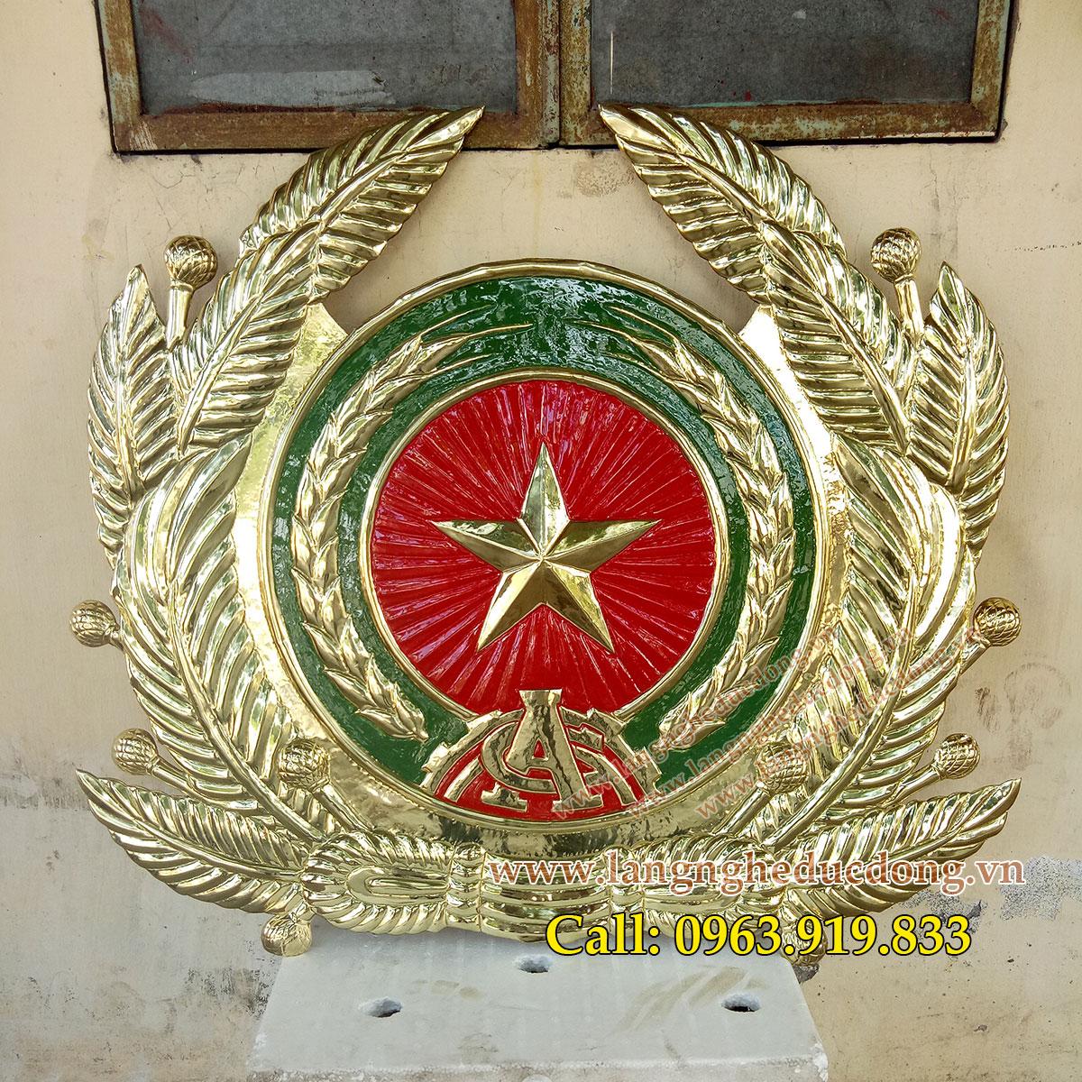 langngheducdong.vn - chế tác huy hiệu công an, quốc huy, logo ngành bằng đồng