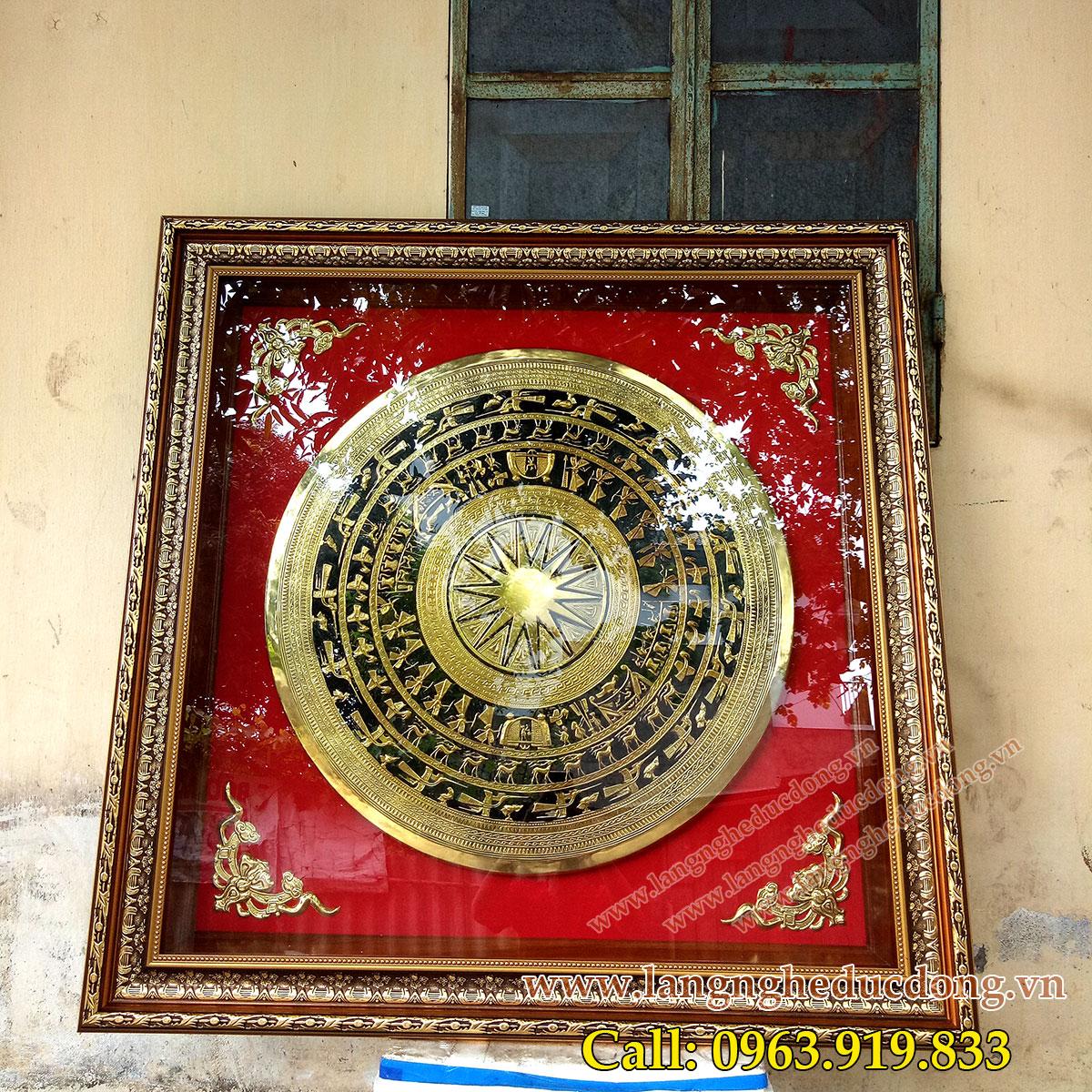 langngheducdong.vn - tranh đồng, tranh mặt trống đồng, mặt trống đồng vàng thúc nổi