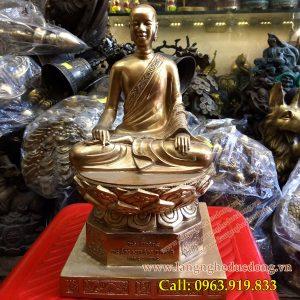 langngheducdong.vn - phật hoàng trần nhân tông, tượng phật bằng đồng, đúc tượng đồng