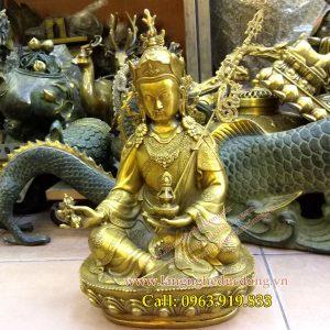 langngheducdong.vn - Đức phật liên hoa sanh, tượng liên hoa sanh bằng đồng, Tượng phật cao 30cm